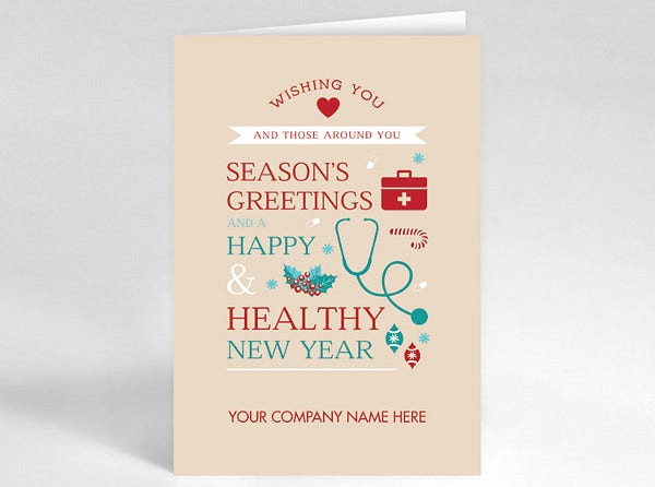holiday health card