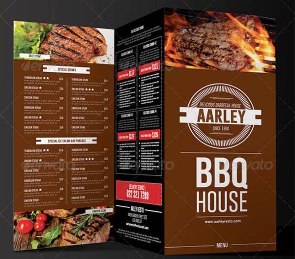 BBQ Menu Card