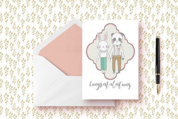 diy congratulations wedding cards
