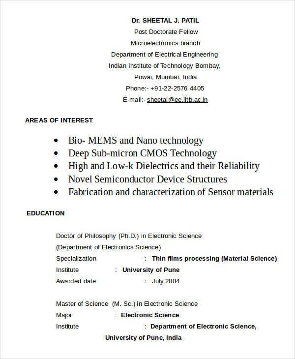 Electrical Engineering Resume Template  Electrical Engineering Student Resume
