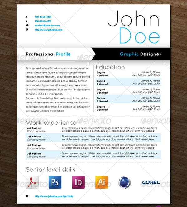 graphic designer resume sample - Resume Templates For Graphic Designers