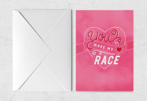 valentines day envelope card
