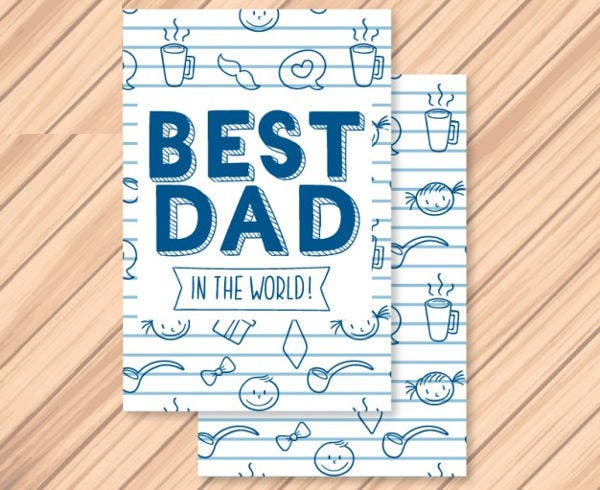 -Homemade Father's Day Card