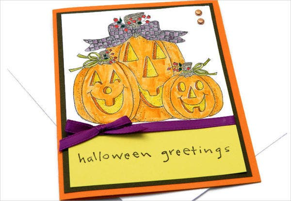 -Homemade Halloween Card