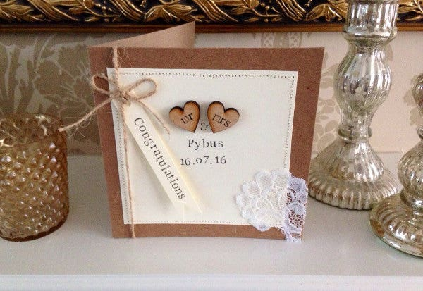 special personalised wedding cards