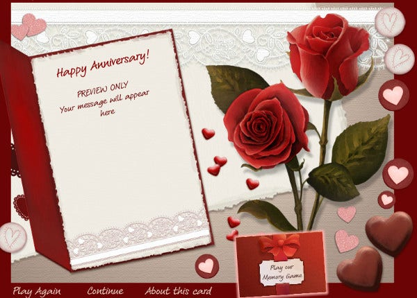 Card Templates Free Premium Templates - Anniversary card template