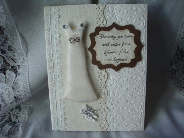 -Bridal Shower Homemade Card