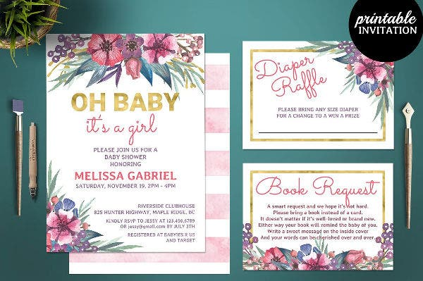 baby shower diaper card