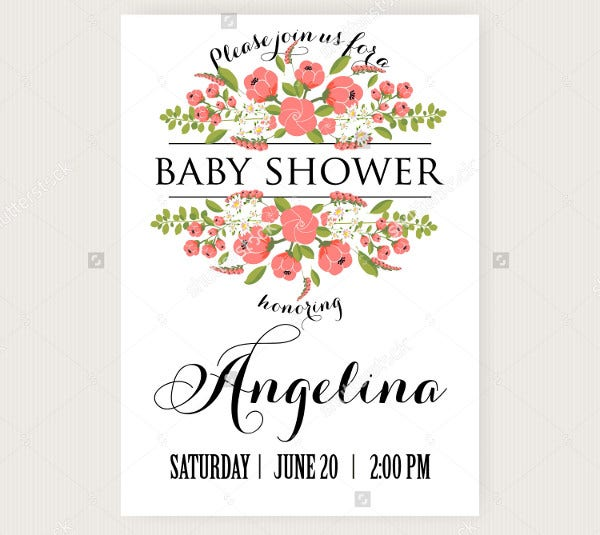 baby shower event card