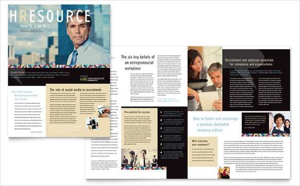 human resource management newsletter template min