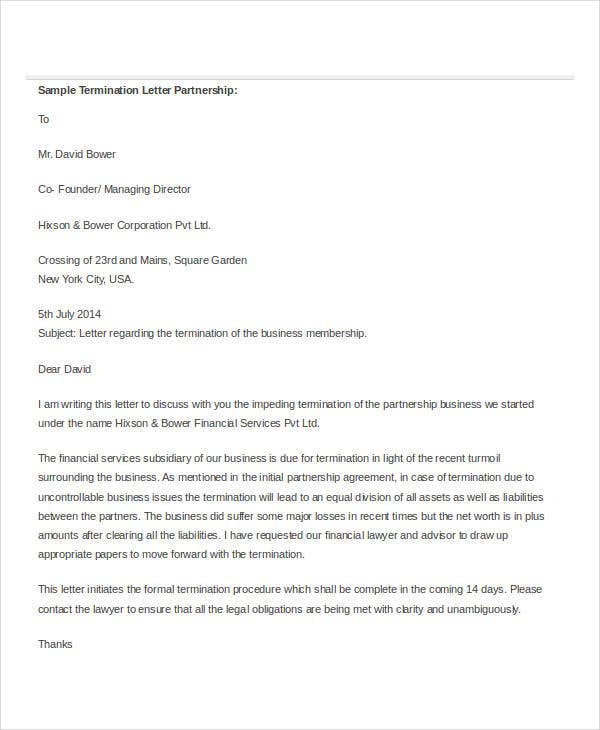 sample partnership termination letter2