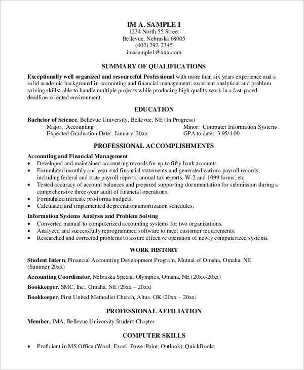 45 Free Accountant Resume – Accountant Resumes