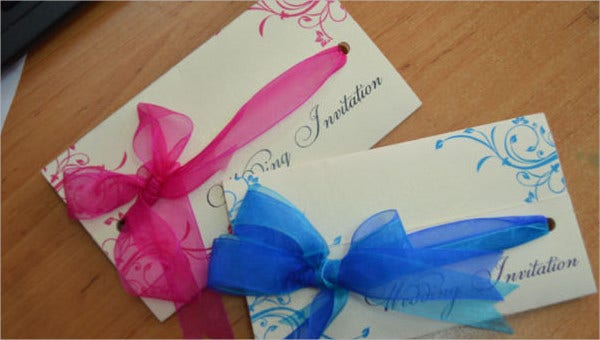 wedding card examples