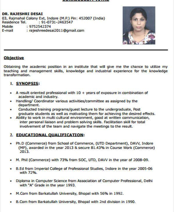 Resume Format For Job In India: 40+ Modern Teacher Resume Templates - PDF, DOC