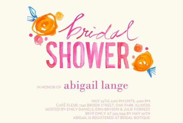 -Floral Wedding Shower Card