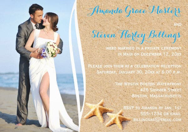 -Wedding Photo Invitation Card