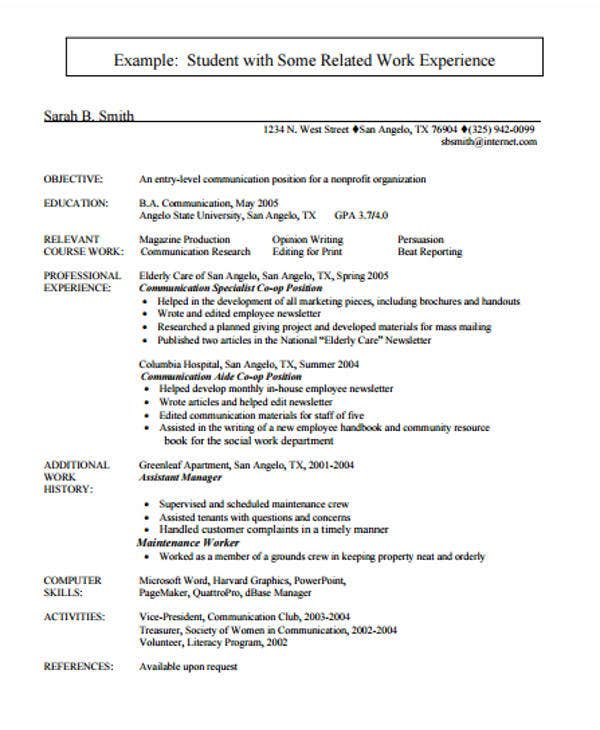Entry Level Elementary Teacher Resume