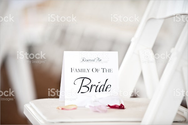 wedding place cards family