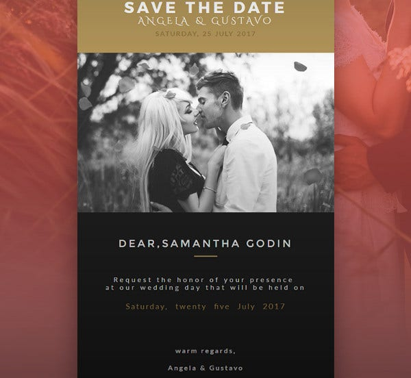 -Wedding Email Invitation Card