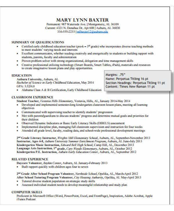 40  modern teacher resume templates