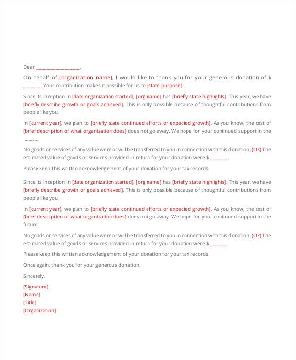 Thank You Letter Example Templates  Free  Premium Templates