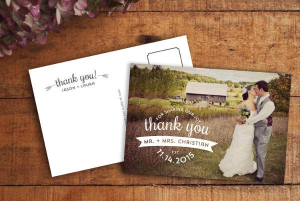 -Wedding Gift Thank You Card