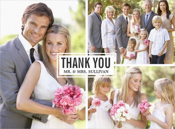 -Wedding Collage Thank You Card
