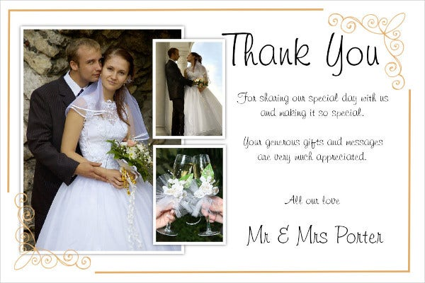-Wedding Day Thank You Card