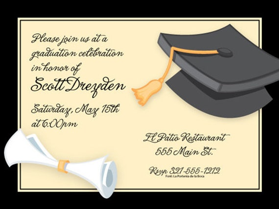 Graduation Invitation Card Template  DiabetesmangInfo