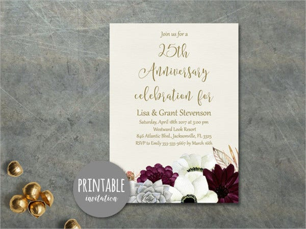 Surprise Wedding Anniversary Invitations: 40+ Wedding Invitation Formats
