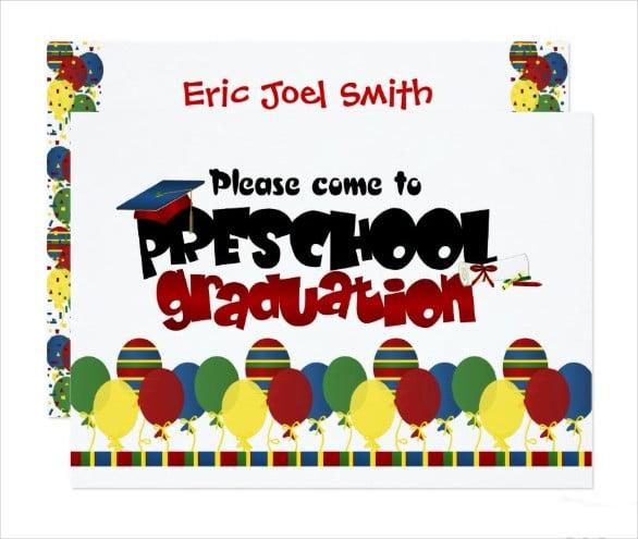 preschool graduation announcement invitation