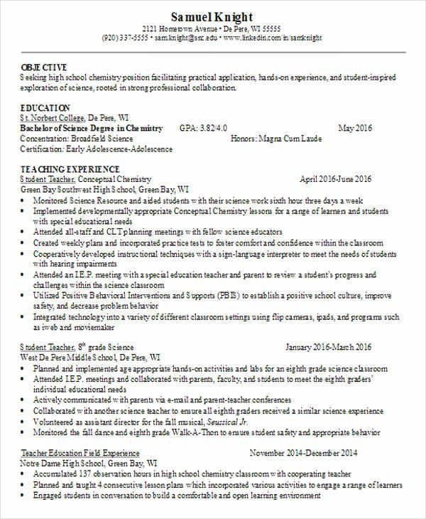 Best Teacher Resumes Free Premium Templates - High school teacher resume examples 2014