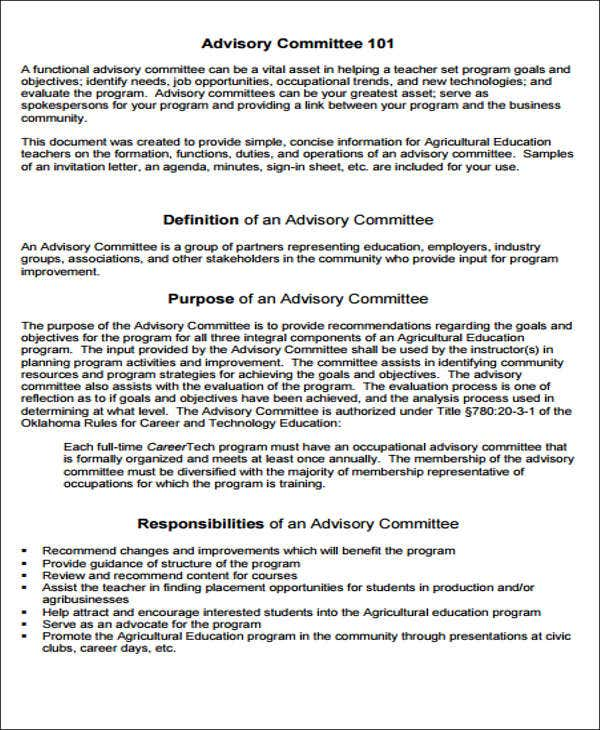 customer advisory board charter pdf