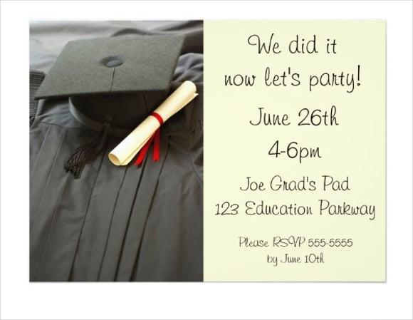college diploma graduation invitation