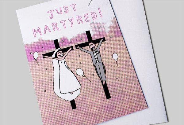 -Funny Personal Wedding Card