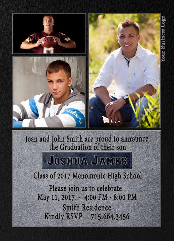 printable photo graduation invitation