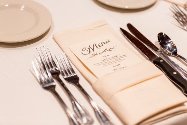 -Wedding Buffet Menu Card