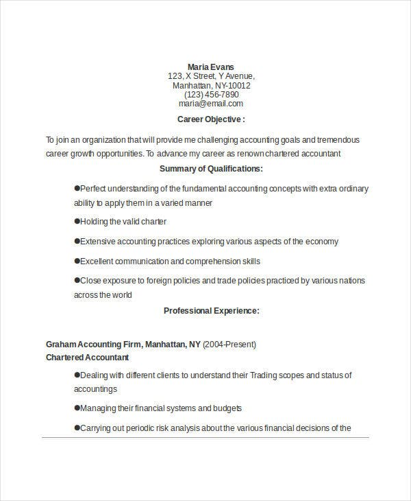 35+ Accountant Resume Design Templates - PDF, DOC