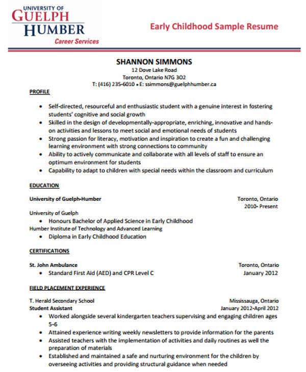 40+ Modern Teacher Resume Templates - PDF, DOC | Free & Premium ...