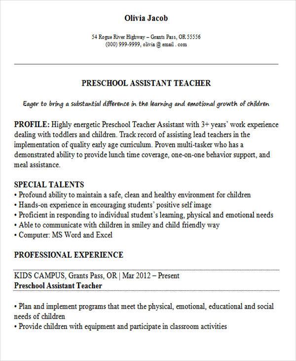 26  best teacher resumes