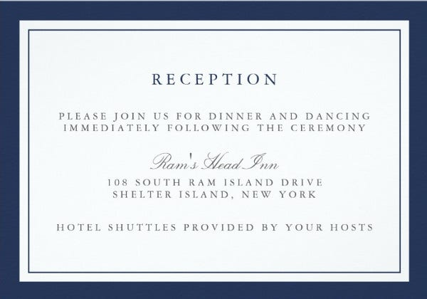 -Wedding Border Reception Card