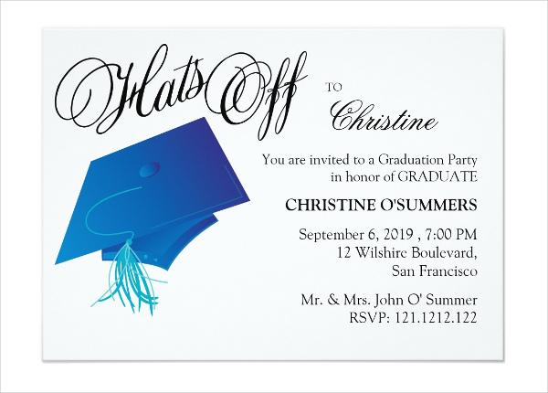 formal graduation dinner invitation