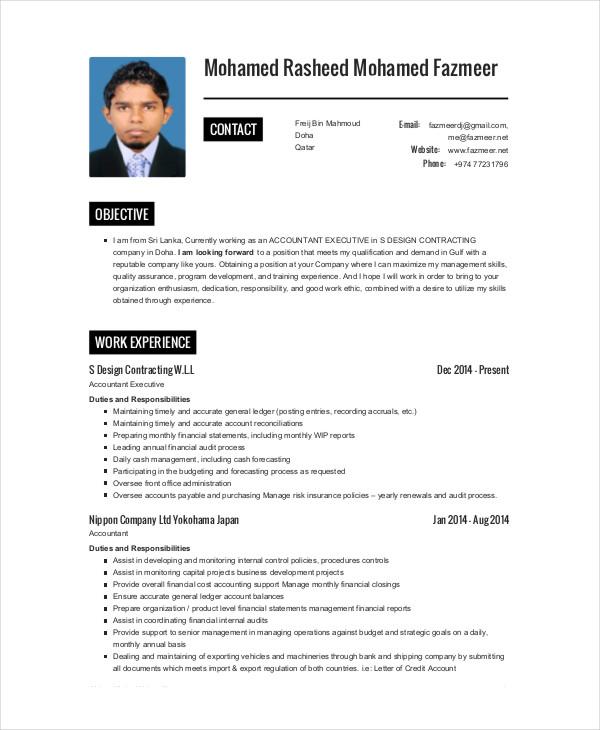 construction company accountant resume
