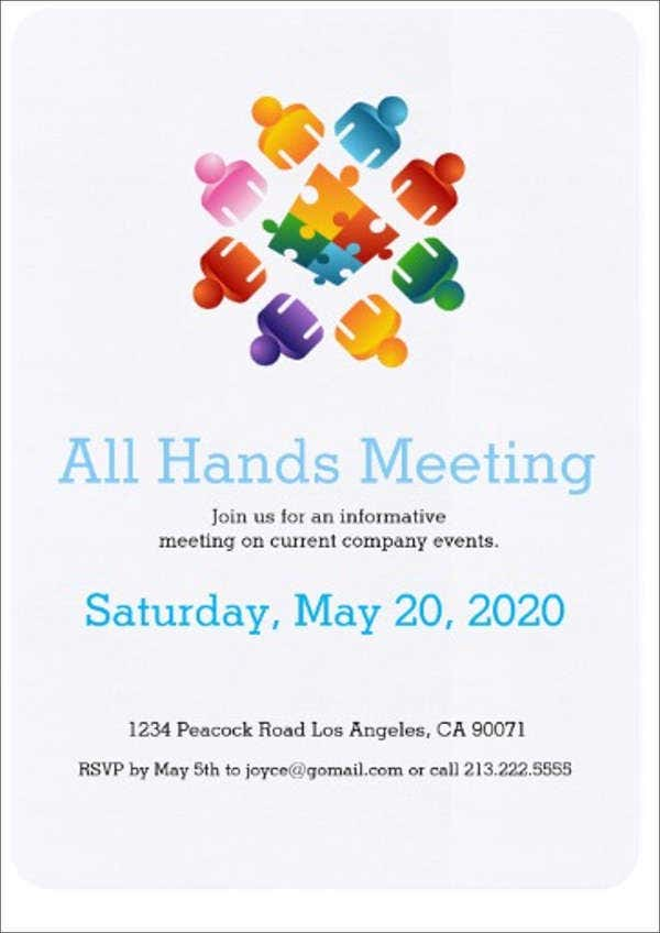 38+ Meeting Invitation Designs - PSD, AI, Word, InDesign ...