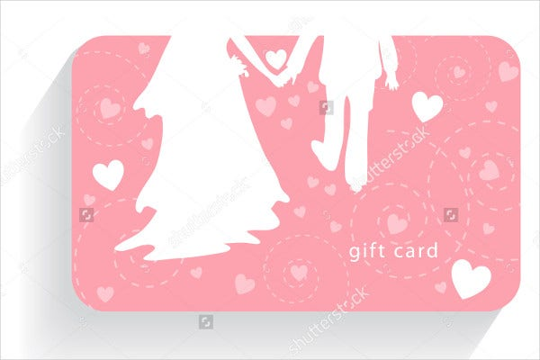-Elegant Wedding Gift Card