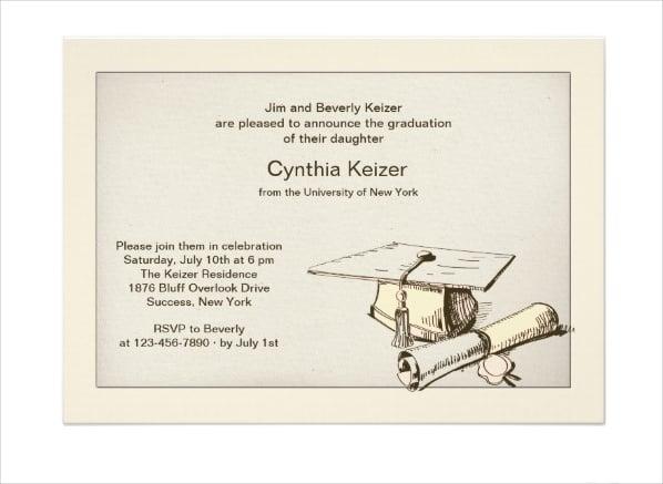 graduation cap diploma invitation1