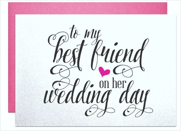 -Personalised Wedding Gift Card