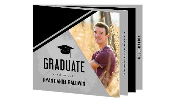 graduation folded booklet invitation