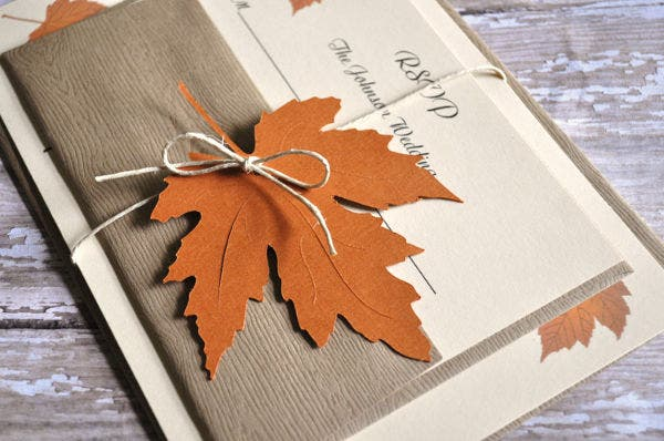-Unique Fall Wedding Card