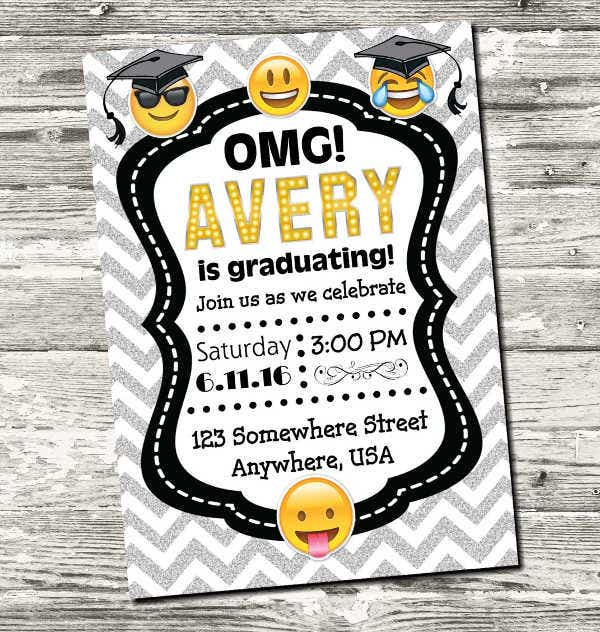printable graduation thank you invitation